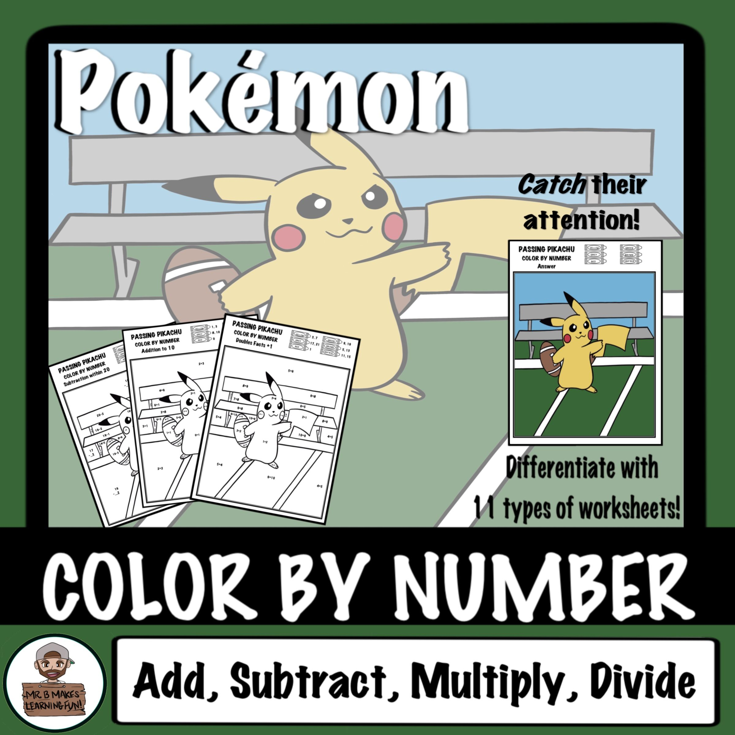 Make Math Fact Practice Fun With This Football Themed Color By Number This Pika Spiced Latte Picture Is An Fall Math Activities Math Fact Practice Math Facts [ 2400 x 2400 Pixel ]