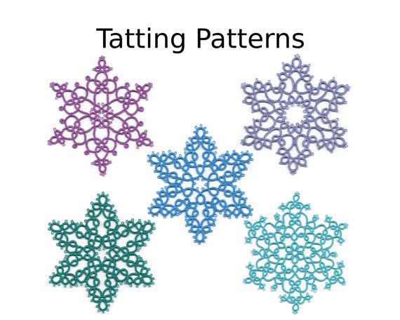 PDF Tatting Patterns - Snowflake Pattern Pack - Instant