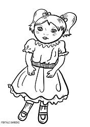 Bambola Da Colorare.Disegni Di Bambole Da Stampare E Colorare Gratis Portale