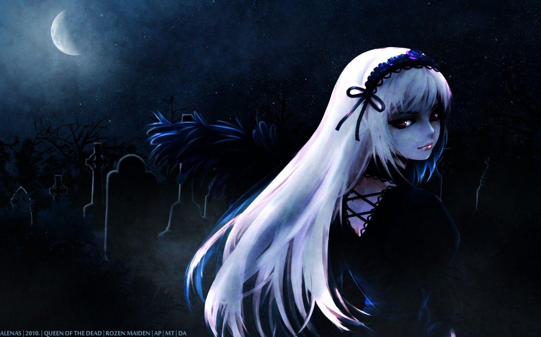 Anime Wallpaper Dark Anime Girl Wallpaper 8632 Hd Wallpapers In Anime Imagesci Com