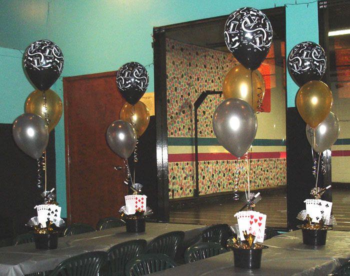 Magic party centerpieces jacks bar mitzvah pfcu am