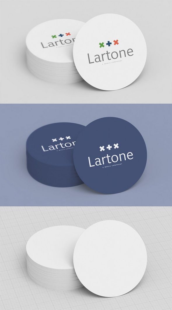 Business card round cards flyer invitation pinterest free collection 5 mock up 1 round business card creative particles creative particles wajeb Gallery