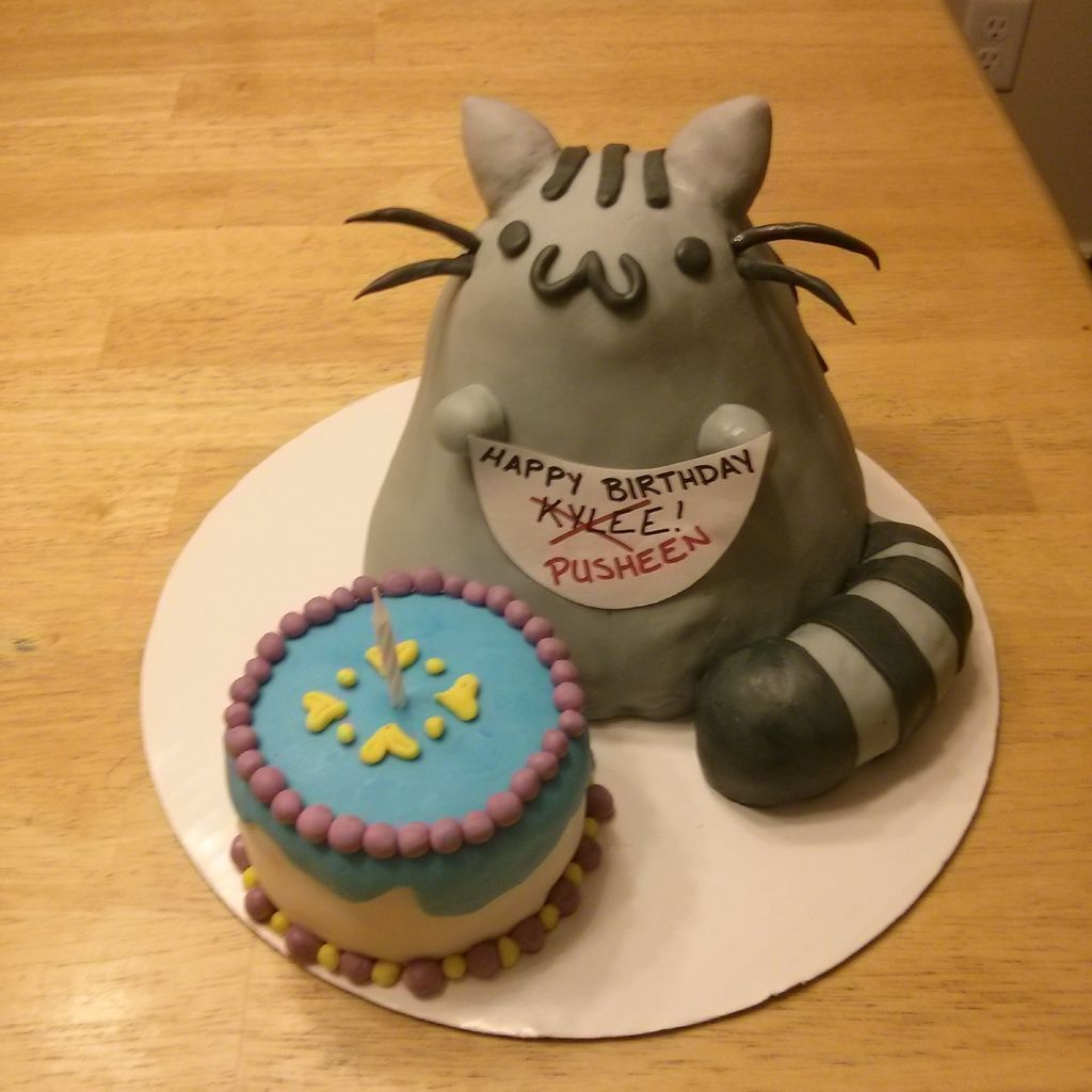 Pusheen Cat Cake Cake Pinterest Pusheen cat Birthday treats
