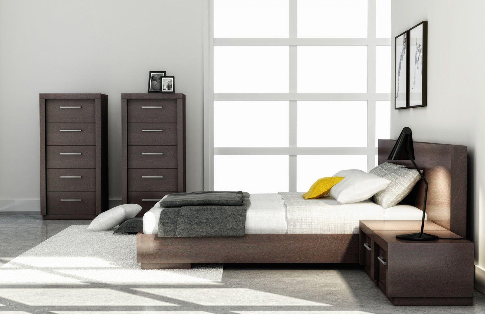 Huppe Amelia Extended Headboard Wood Bed   Modern Bedroom ... - Huppe Amelia Extended Headboard Wood Bed   Modern Bedroom Furniture