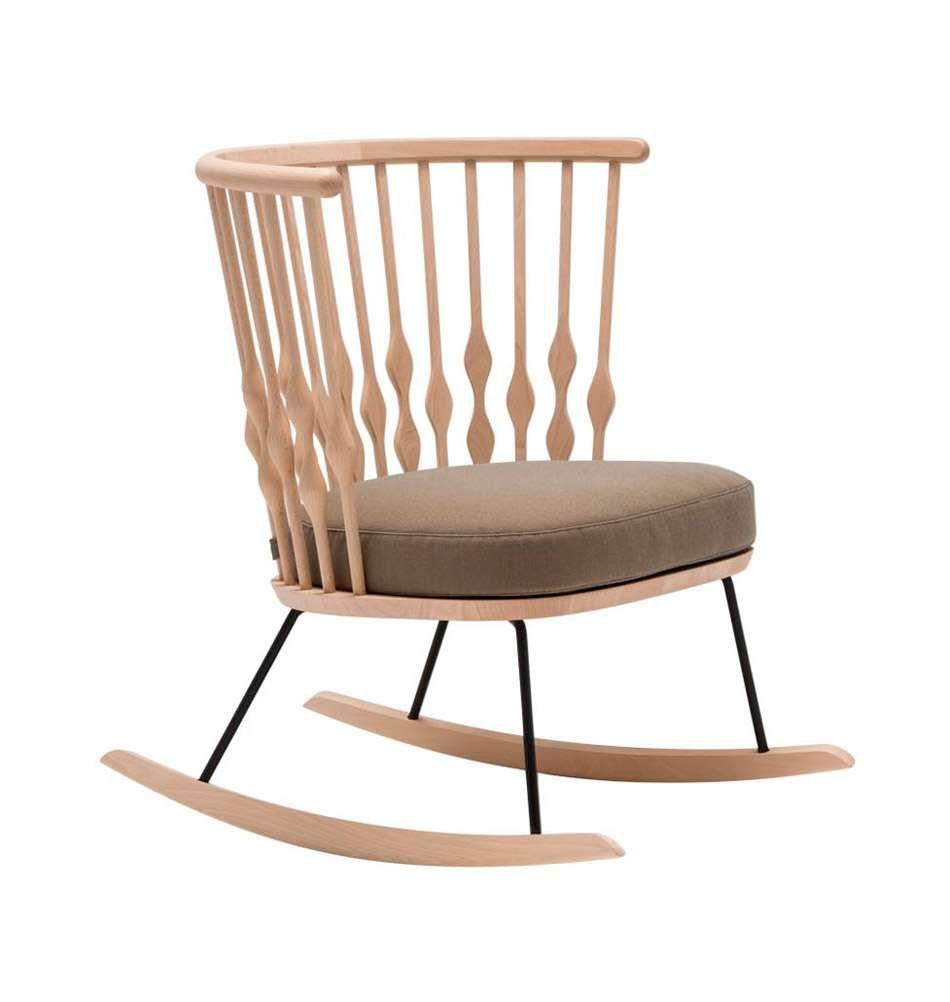 Moderner Schaukelstuhl Aus Holz Von Andreu World