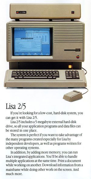 Apple Lisa with external hard disk. I have one of these ...