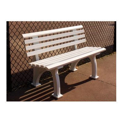 Putterman Athletics Courtside Plastic Park Bench Finish White