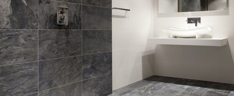 Wave Anthracite Wall And Floor Tile Bathroom Tile Designs Tile Floor Bathroom Wall Tile