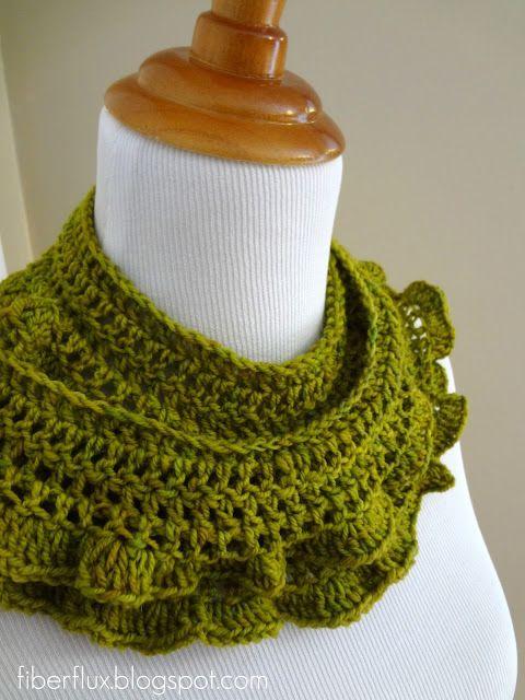 Free Crochet Pattern... Arugula Scarf | Serpe | Pinterest | Cuellos ...