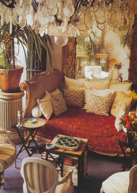 """Paris home of the late Loulou de la Falaise, as featured in """"Paris Interiors"""" by Lisa Lovatt-Smith"""