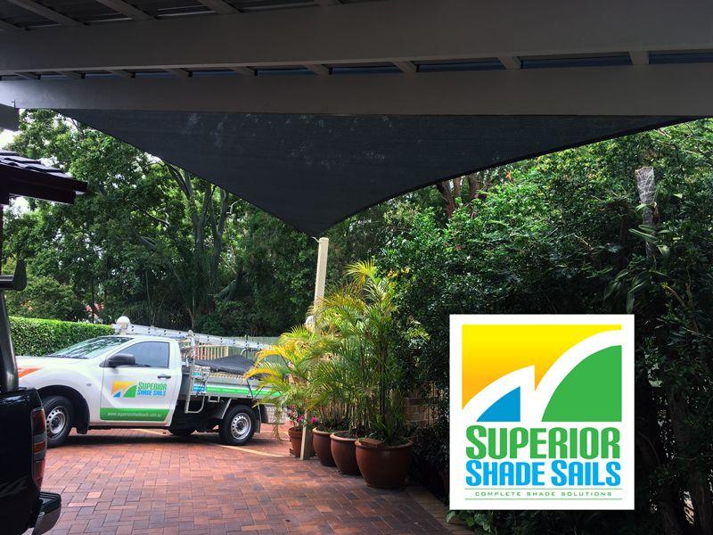 Installation of carport shade sail on a sail track at