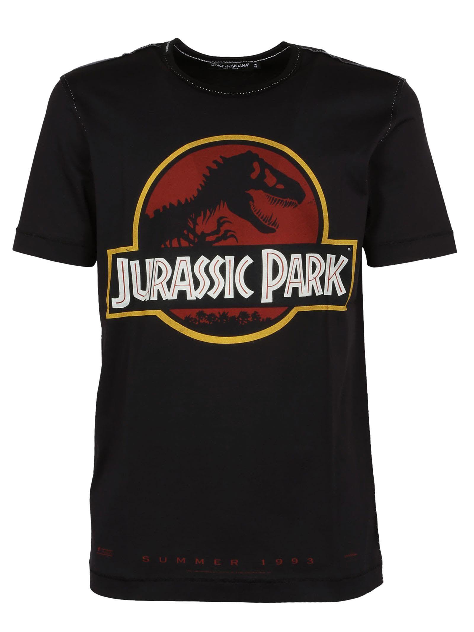 Black Jurassic Park T Shirt Jurassic Park T Shirt Dolce And Gabbana Shirts
