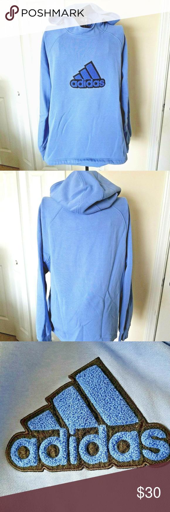 Adidas Hoodie Sweatshirt Xl Light Blue Large Logo Trendy Sweatshirt Adidas Hoodie Sweatshirts Hoodie [ 1740 x 580 Pixel ]