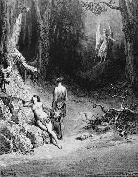Gustave Dore Illustration To Paradise Lost By John Milton 50 Adam Eve And The Archangel Michael They Looking Ba Adan Y Eva Ilustraciones Gustave Dore