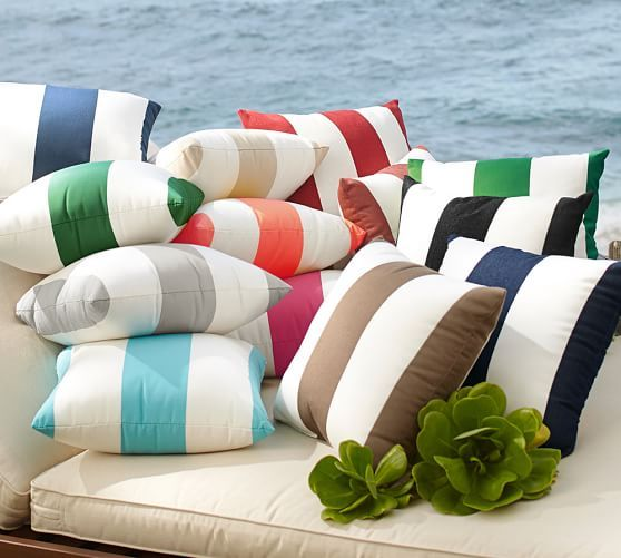 Sunbrella 174 Awning Stripe Indoor Outdoor Pillow Outdoor