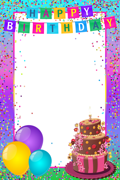 Happy Birthday PNG Transparent Multicolor Frame | Birthdays ...