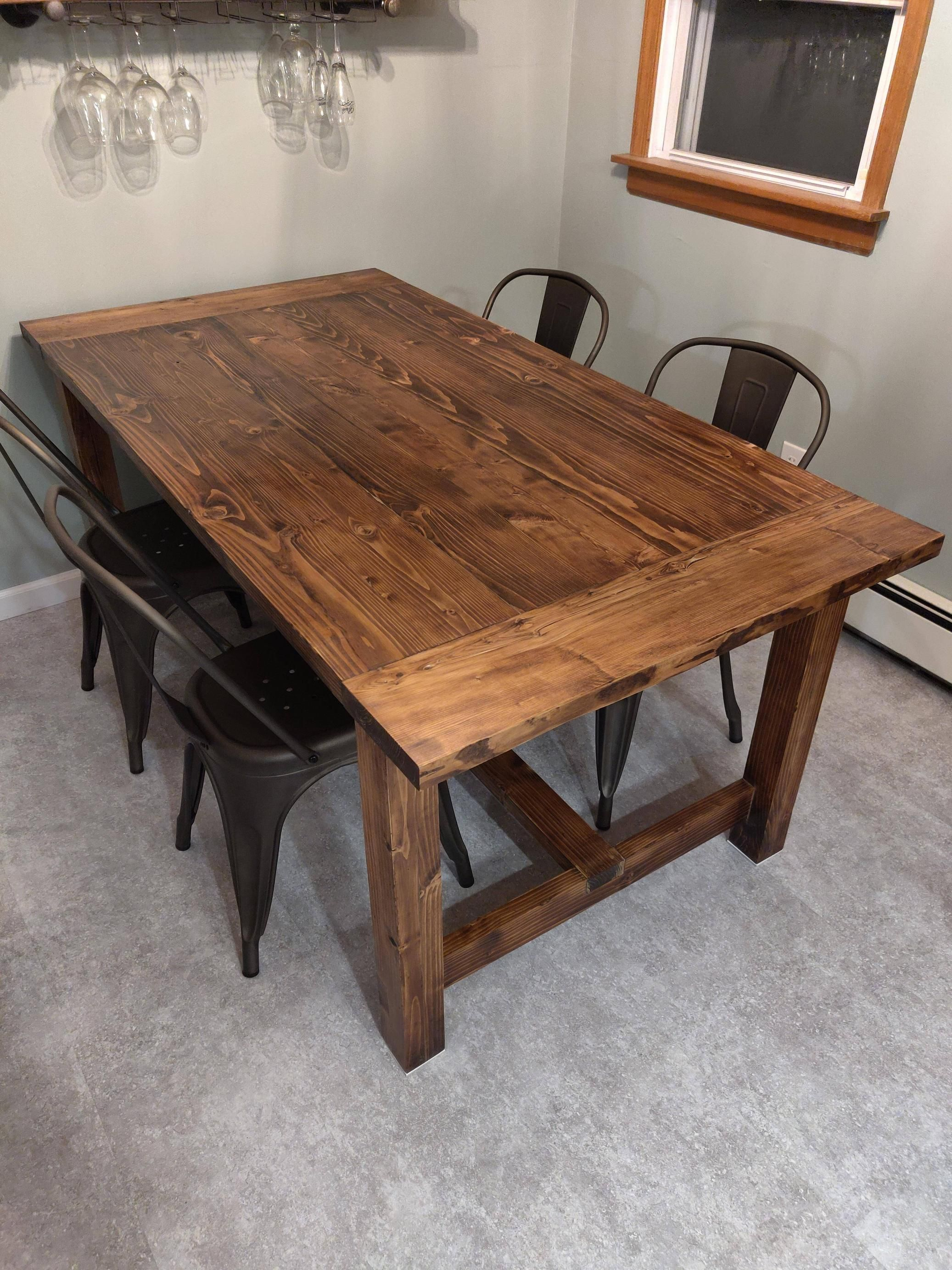 First Project Ever Of Course It Was An Anna White Farmhouse Table I Learned A Heck Of A Lot And I Anna White Farmhouse Table White Farmhouse Table Anna White
