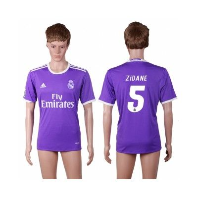 Real Madrid 16-17 Zinedine Zidane 5 Udebane Trøje Kortærmet.  http://www.fodboldsports.com/real-madrid-16-17-zinedine-zidane-5-udebane-troje-kortermet.  #fodboldtrøjer