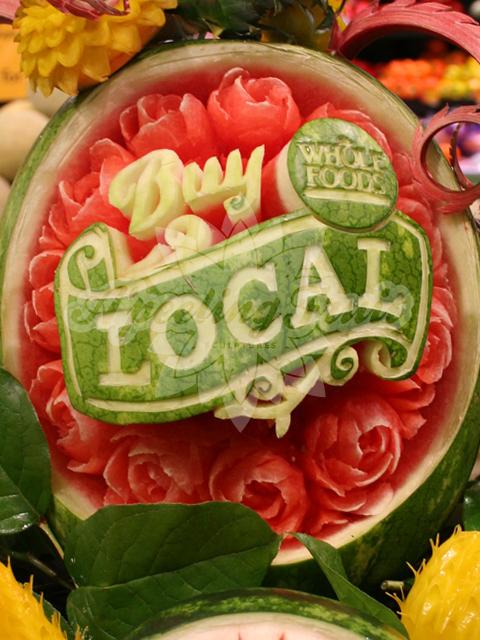 Buy Local Fruit shop, Fruit carving, Fruit