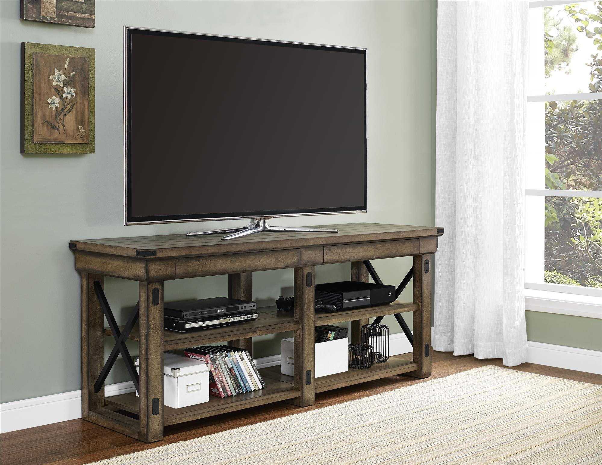 Dorel Home Furnishings Wildwood Rustic Gray Tv Stand Products