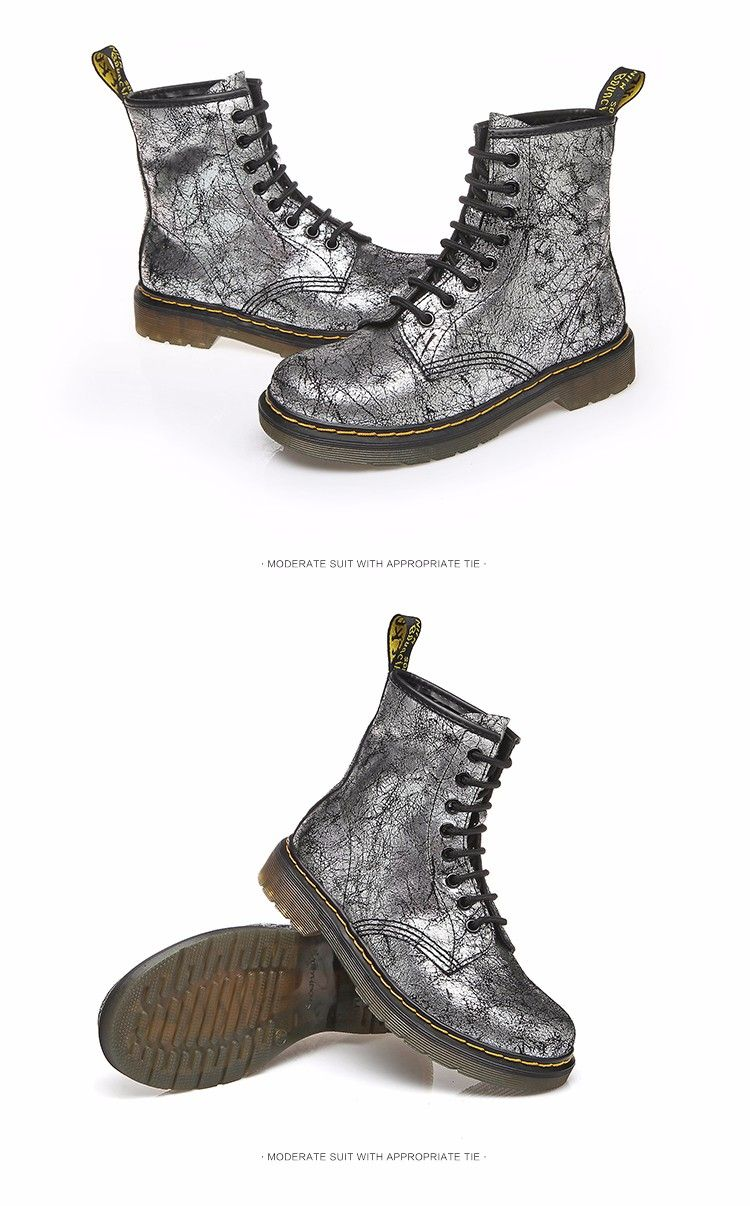 33a8d8aa19b Fashion White Silver Boots Women Punk Boot Shoes Woman 2018 Spring Super  Cool Ankle Boots For