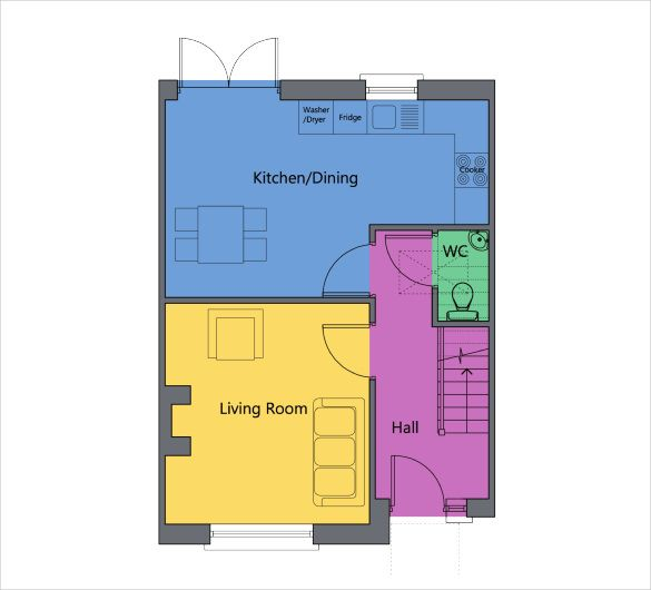 Universal Design Floor Plan Template Free Pdf Plans And Site Color Rendering Services Perfect Free Floor Plans Floor Plan Layout Simple Floor Plans