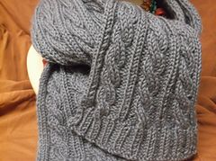 Ravelry: Basic Cabled Scarf pattern by Valerie Schellenger