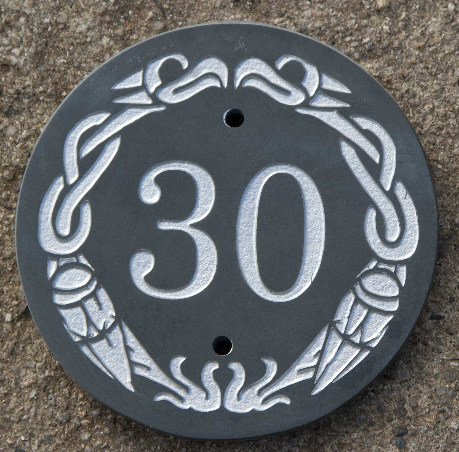 celtic slate house number. celtic border 023 | decor ideas