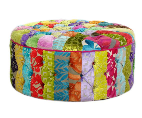 Bespoke Patchwork Ottoman/Coffee Table Designers Guild Fabric ...