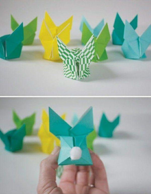 origami hase falten anleitung und inspirierende osterdeko ideen ostern. Black Bedroom Furniture Sets. Home Design Ideas