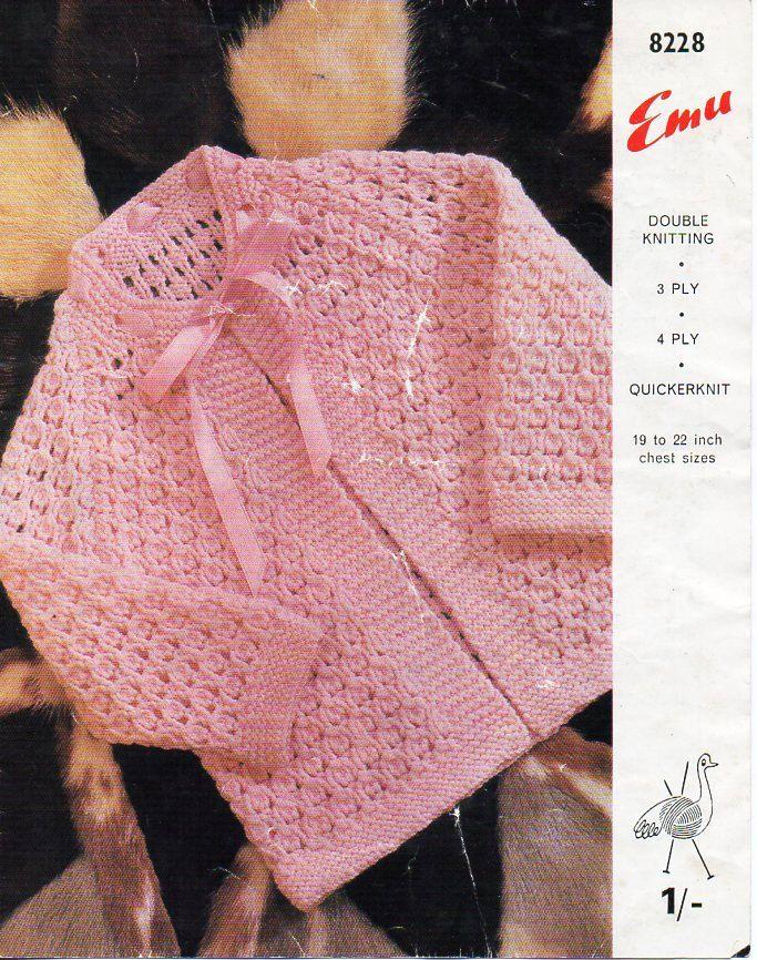 baby matinee coat knitting pattern pdf matinee jacket cardigan 19-22 ...