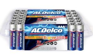 Acdelco Re Closeable Pack Aa Or Aaa Batteries 60 Pack Aaa Batteries Aaa Acdelco
