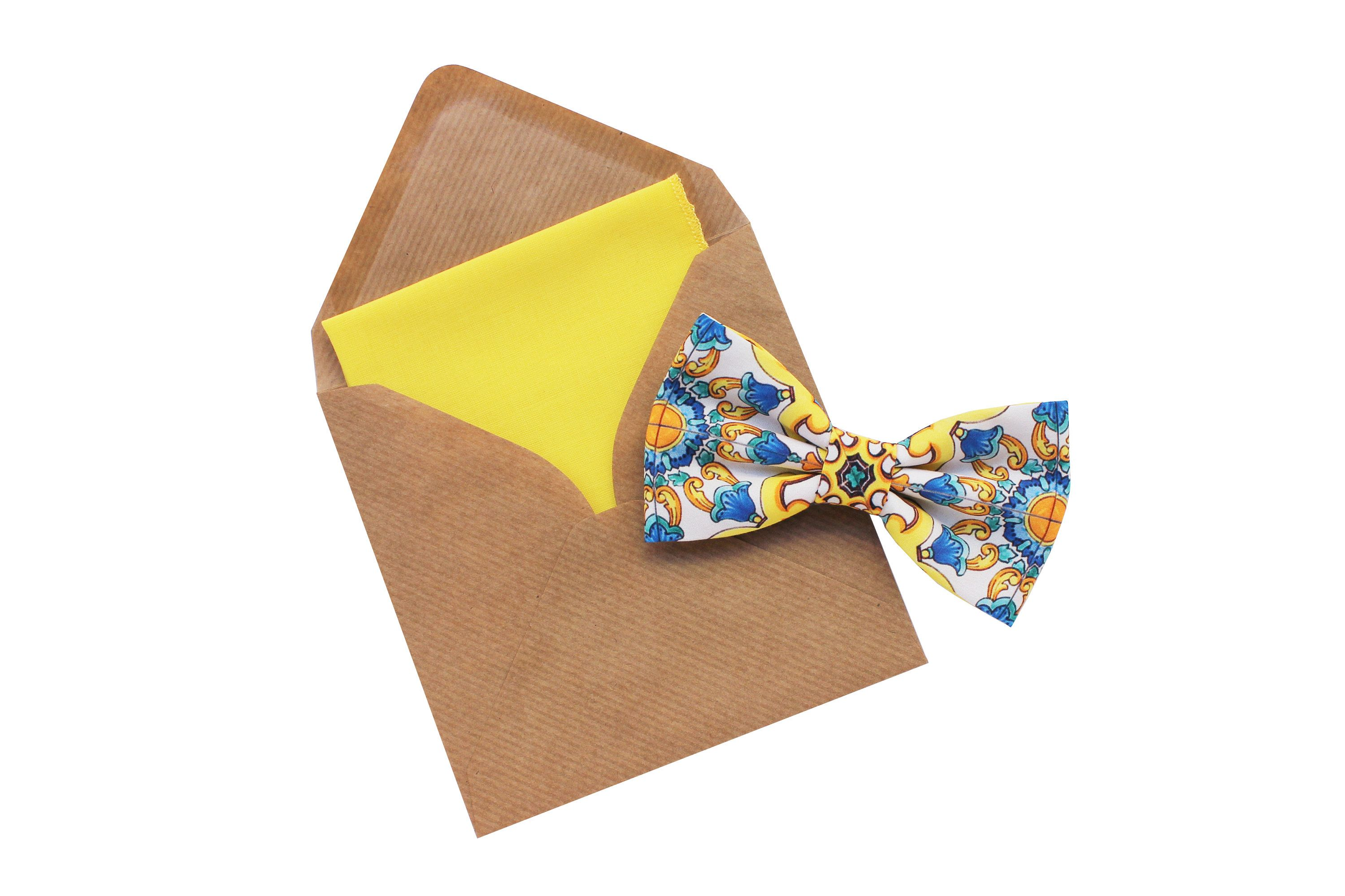 Majolica bow tie for men,floral print bow tie,tie for