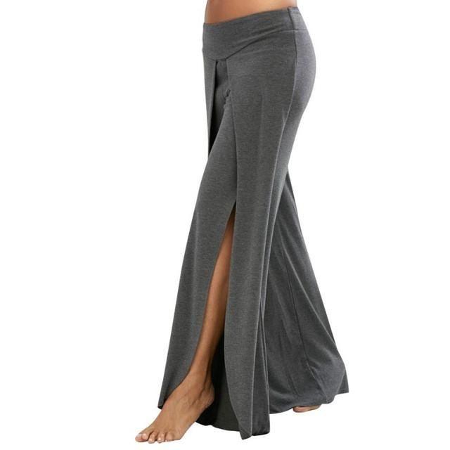 5ffe1f35b7 Womens Yoga Pants Elasticity Yoga Gym Leggings Fitness Waist Wide Flowy Pants  Summer Long Loose Yoga Pants wholesales #EW