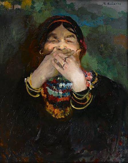 Laughing Baba by Filipp Malyavin (1869-1940)
