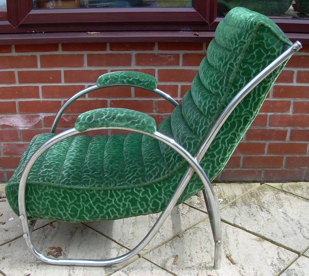 PEL Art Deco Scroll Back Easy Chairs | Art deco furniture ...