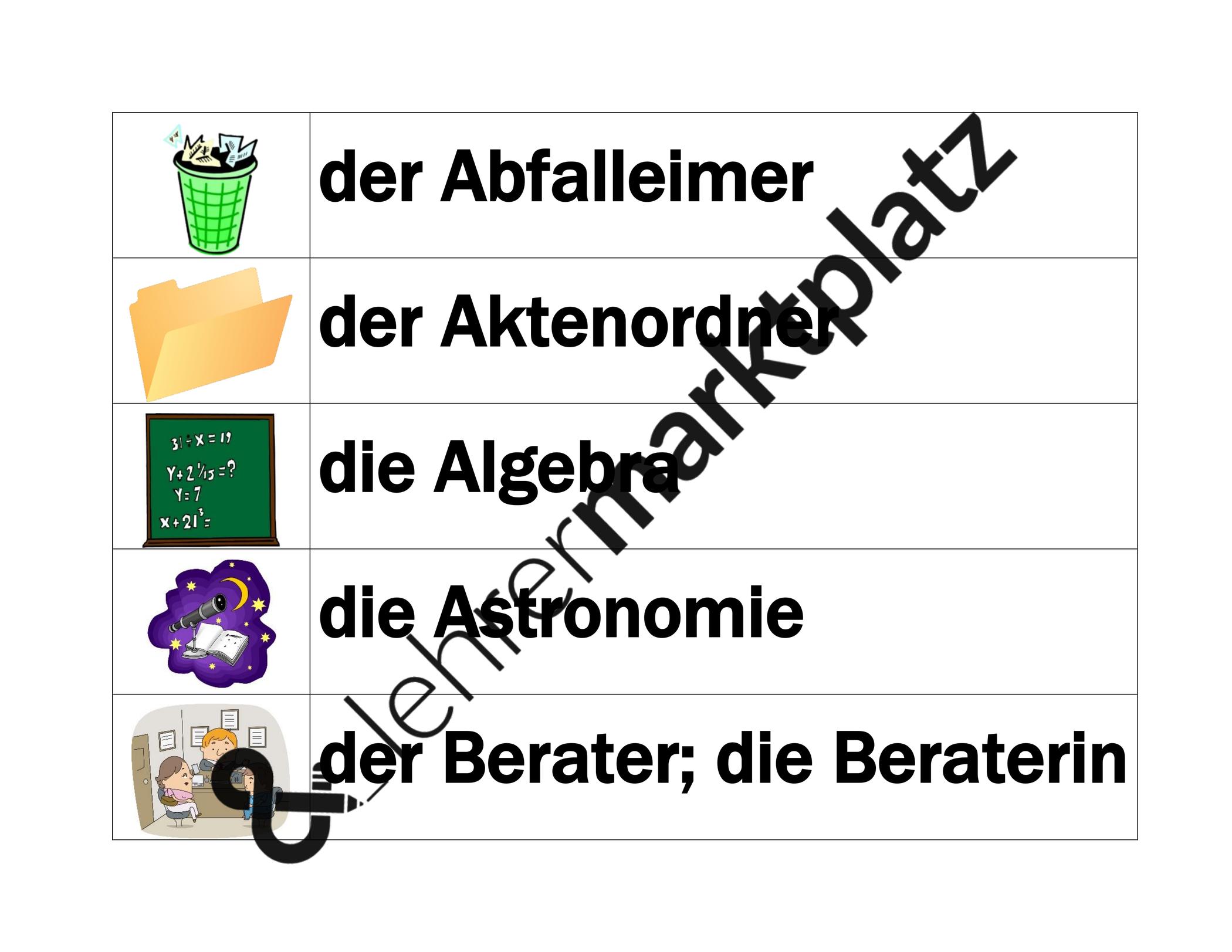 Schule Auf Deutsch Worter Wand Unterrichtsmaterial Im Fach Daz Daf In 2020 Worter Wand Deutsche Worter Worter
