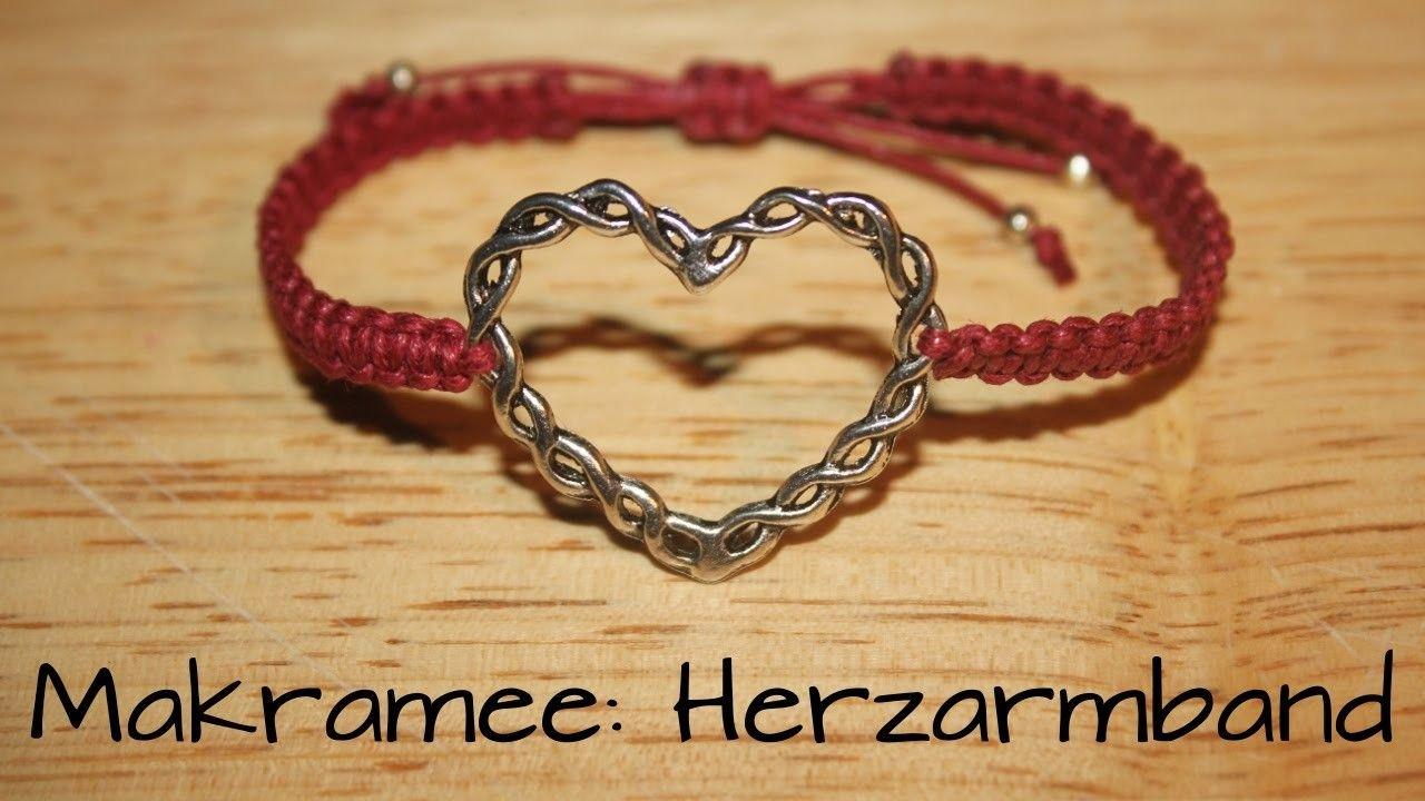 Makramee: Armband mit Zwischenelement | Armbänder, Heimwerker ...