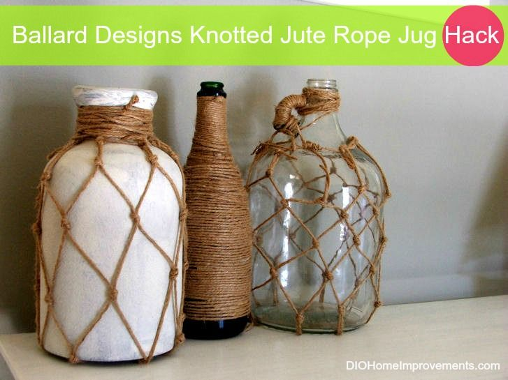 Ballard Designs Knotted Jute Rope Jug Hack