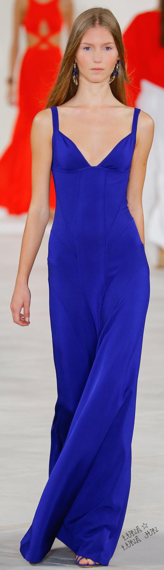 Ralph Lauren Spring 2016 | Dress | Pinterest | Vestidos azules ...