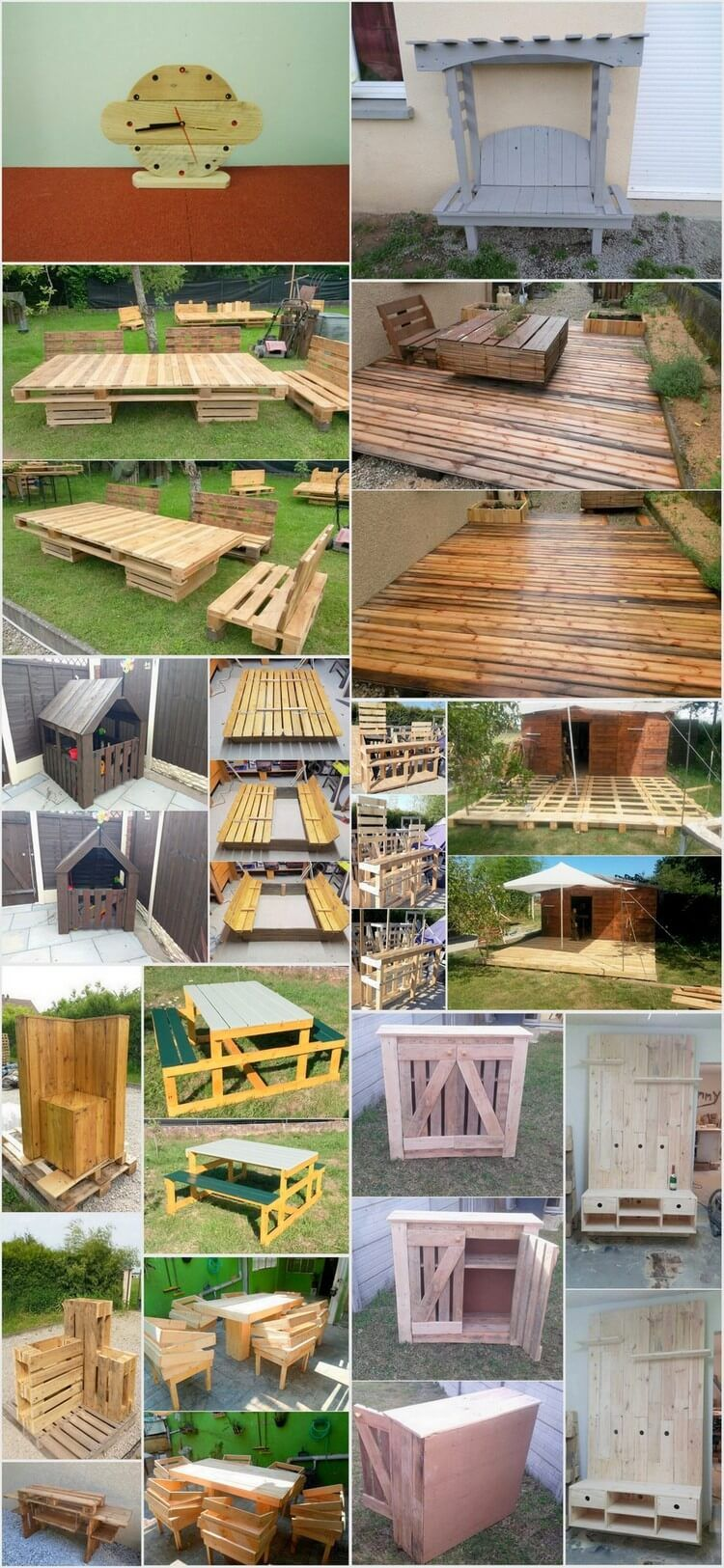 Easy and inexpensive projects for wooden pallet reusing wooden