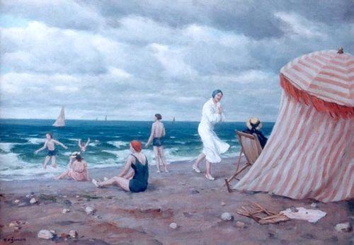 """A windy Day on the Beach"" by Tavik Frantisek Simon"