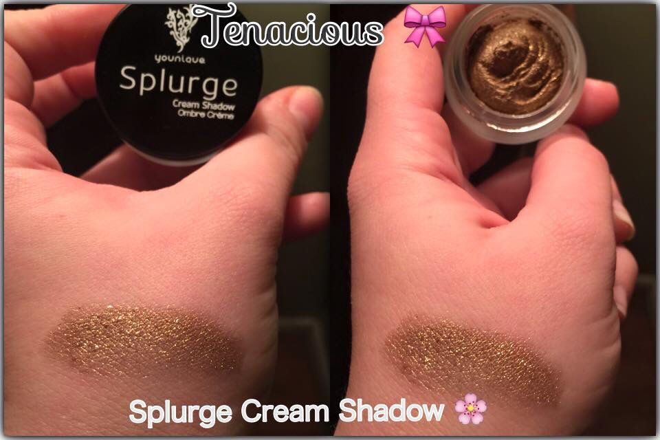 """Our Splurge cream eyeshadow in the color """"Tenacious!"""" The perfect gold ✨"""