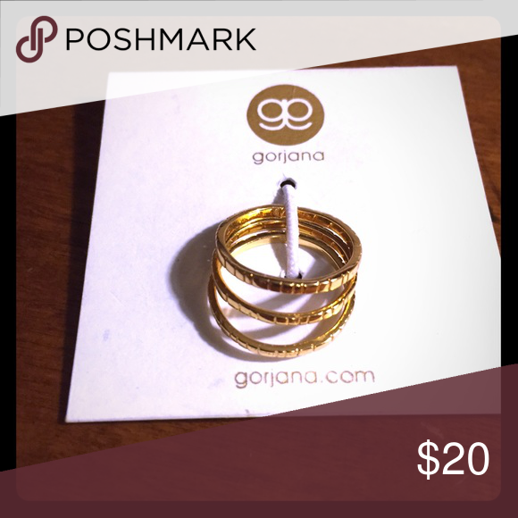 Gorjana gold midi rings 3 in the set. Gorjana Jewelry Rings