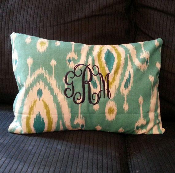 Coastal Monogrammed Pillowcase- Dorm Decor, Baby Decor, Home Decor for $26!!