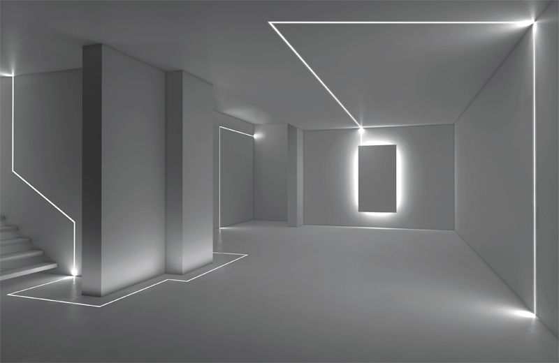 Linear LED sources for direct diffused lighting emission