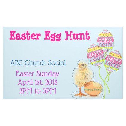 Easter egg hunt chick balloons custom banner custom banners negle Images
