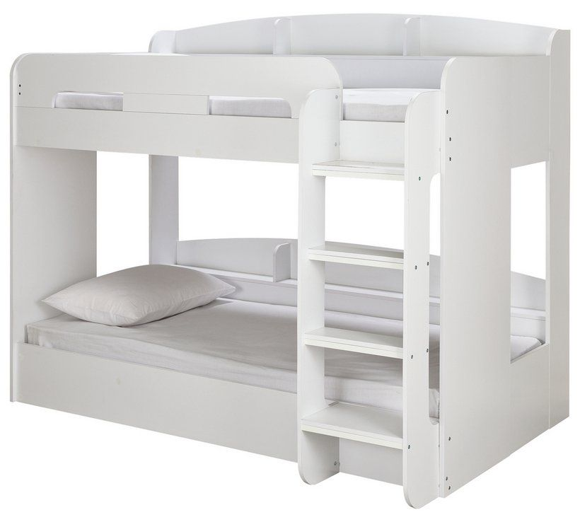 Home Ultimate White Bunk Bed Amp 2 Kids Mattresses Single