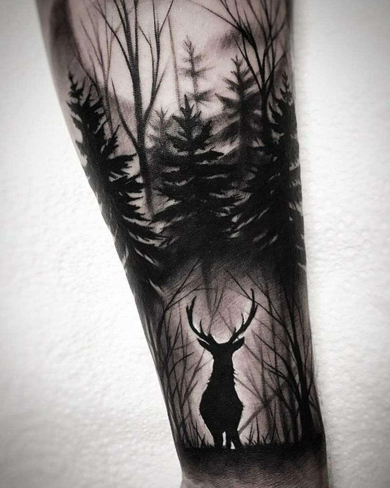 Forest tattoo original deer