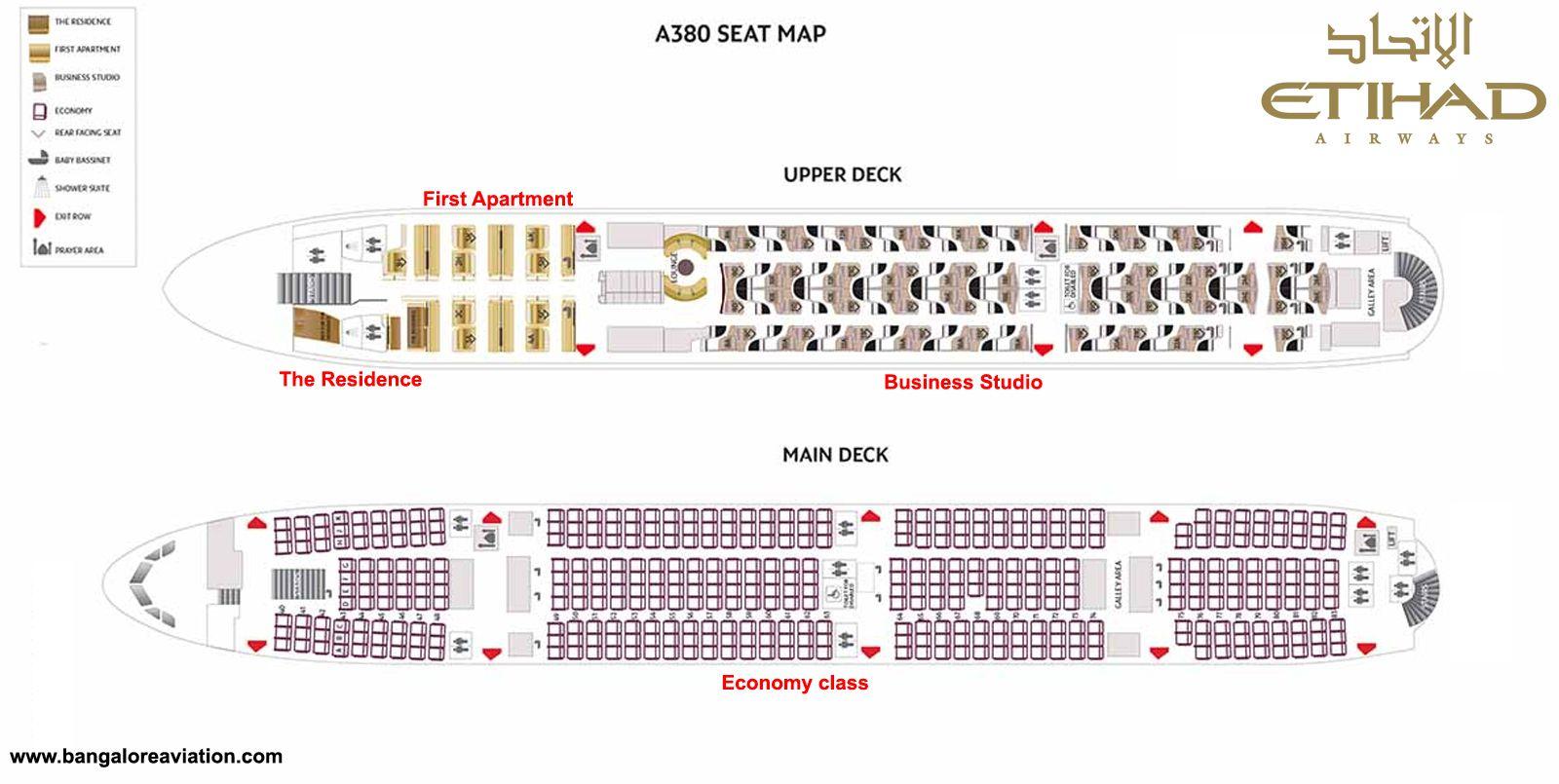 Etihad Airways A380 Seat Map Airbus A380 Airbus